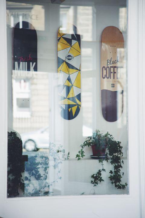 Room, Window, Textile, Interior design, Glass, Door, Art,