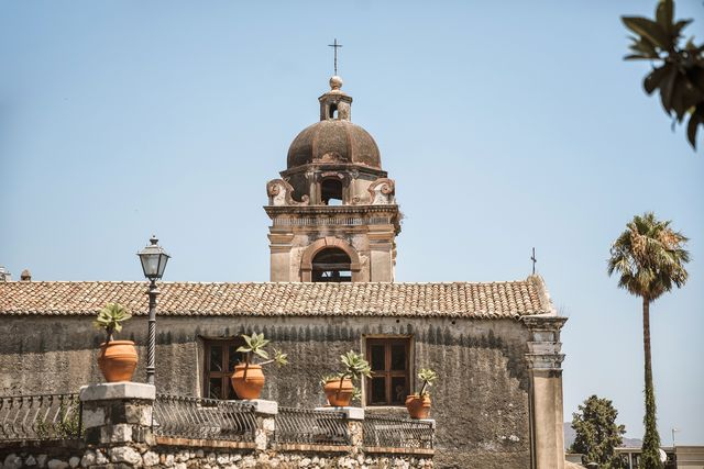 dettaglio chiesa di san pancrazio, taormina