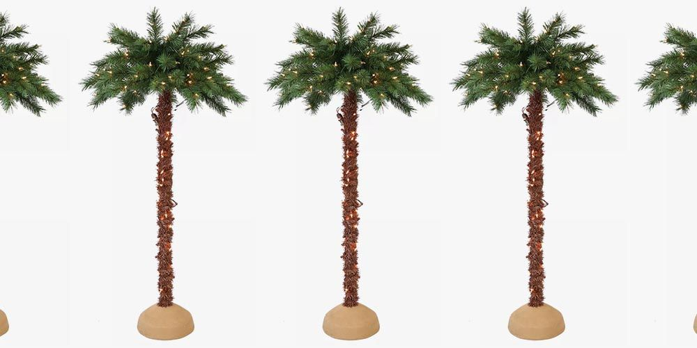 Target's 6-Foot Christmas Palm Tree Is for People Who Will Never Give Up on Summer