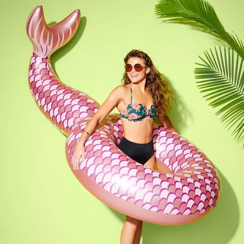 mermaid tail pool float from target's sun squad collection