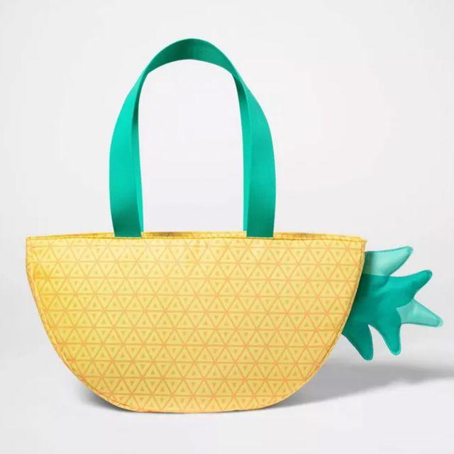 target sun squad pineapple figural cooler bag