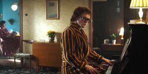 Tarn Egerton as Elton John in Rocketman biopic