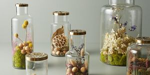 Tarro fragancia flores tendencia centros de mesa