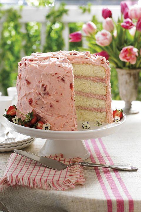 tarta de crema de fresa