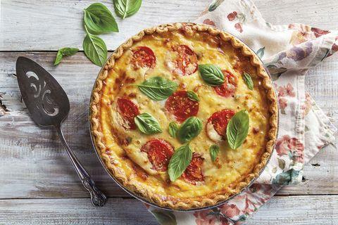 Quiche de tomate y queso