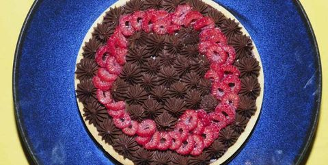 chocoladetaart frambozen tarte chocolat