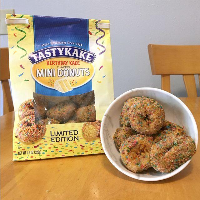 tastykake birthday kake mini donuts