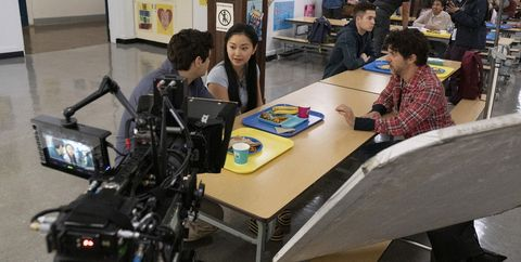 to all the boys ive loved before 3 noah centineo as peter kavinsky, lana condor as lara jean covey, michael fimognari as director, in to all the boys ive loved before 3 cr katie yu  netflix © 2020