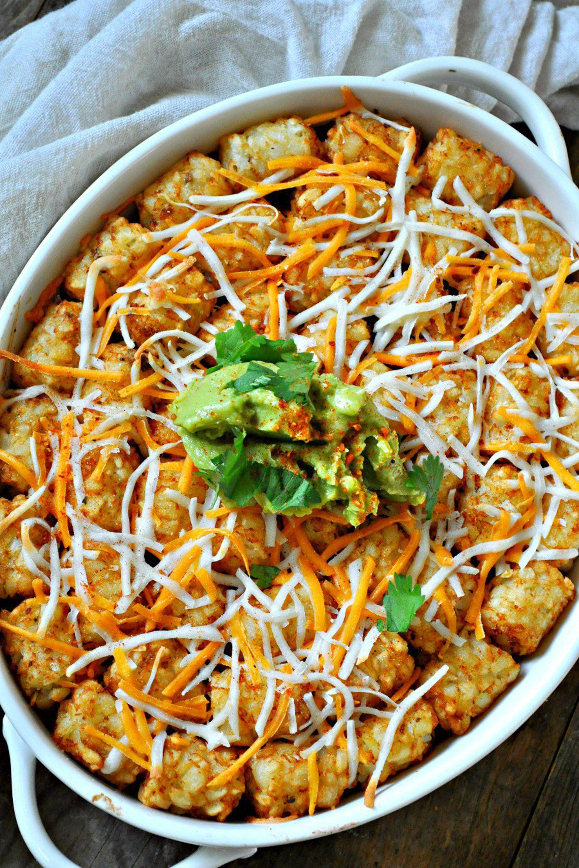 tater tot casserole mexican vegan