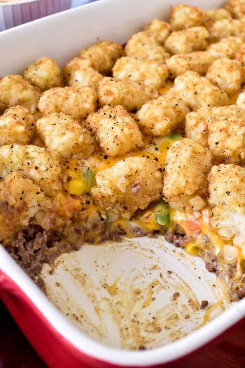 Tater Tot Casserole With Green Beans