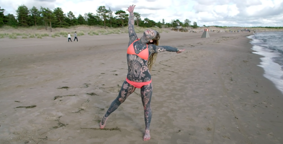 This Woman Explains Why She Has Tattoos on 99 Percent of Her Body