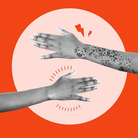 Glove, Arm, Hand, Finger, Illustration, Wrist, Fashion accessory, Gesture, Flesh, Thumb,