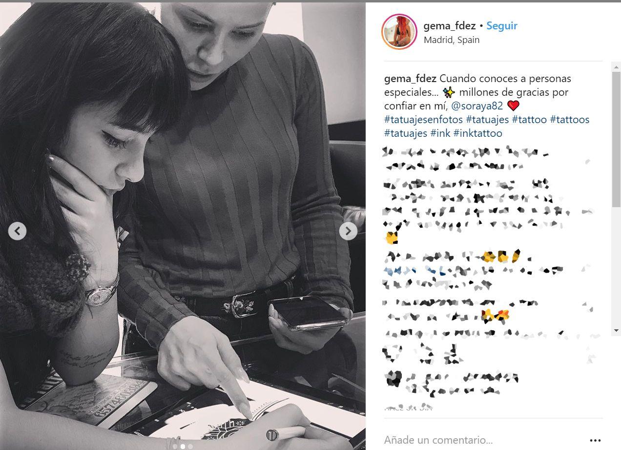Soraya Arnelas revoluciona las redes con su nuevo (y enorme) tatuaje en el pecho