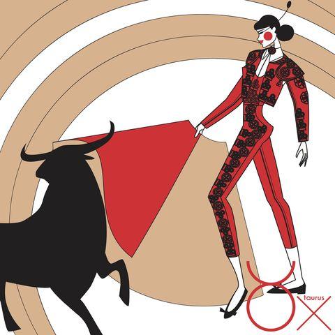 Matador, Bullfighting, Cartoon, Bull, Tradition, Illustration, Bovine, Costume design, Clip art, Ringmaster,