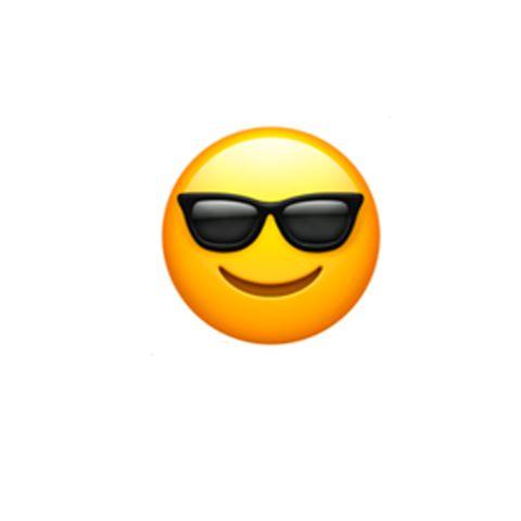 Eyewear, Emoticon, Facial expression, Smiley, Yellow, Sunglasses, Smile, Orange, Glasses, Icon,