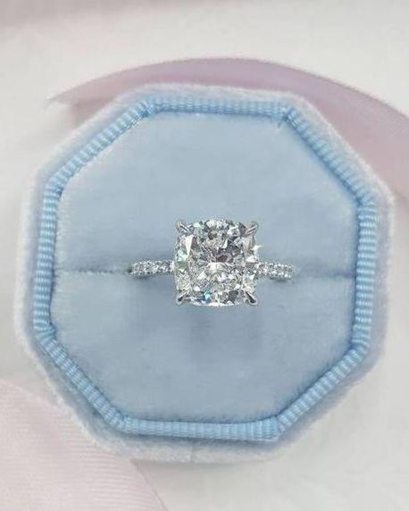star sign rigns taurus engagement ring cushion cut