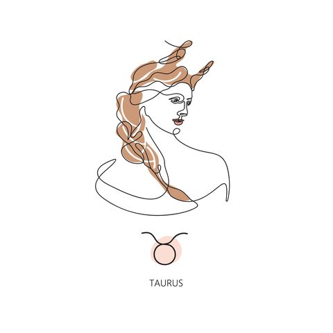 taurus zodiac sign the symbol of the astrological horoscope
