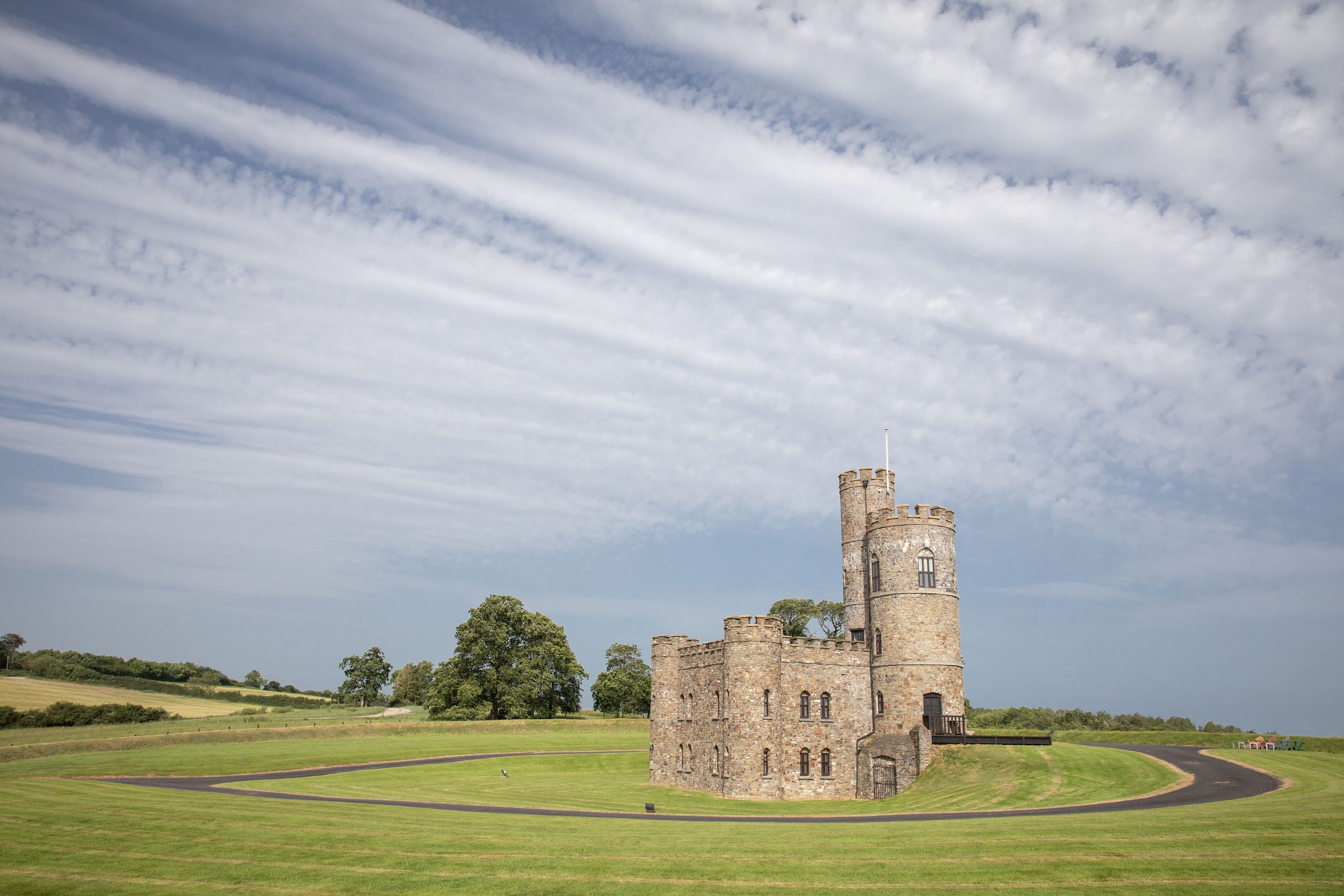 Enchanting 18th century gothic castle with 8 acres of land is for sale in North Devon