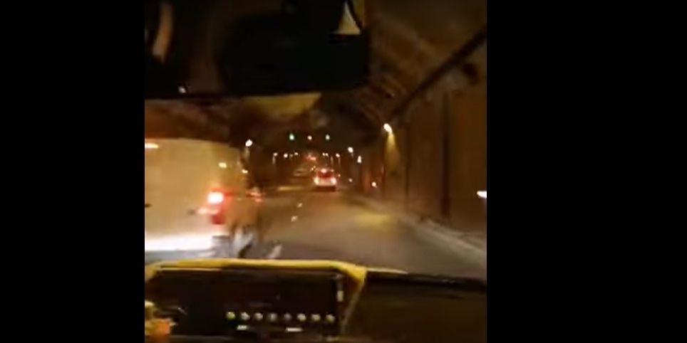 Detenido por conducir un taxi así por los túneles de la M-30 de Madrid