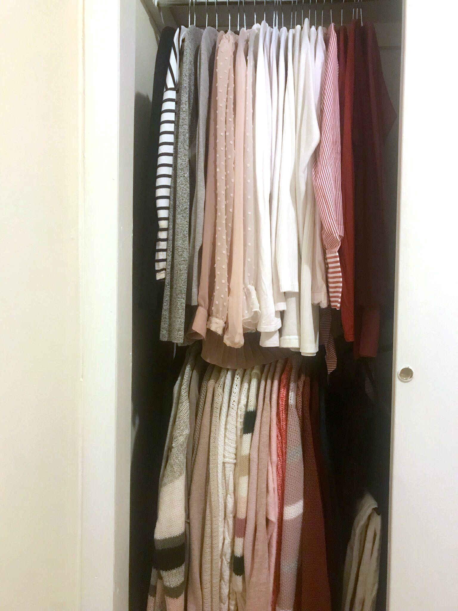 Bed Bath Beyond Sells A 15 Double Hanging Rod That Doubled The Size Of My Tiny Nyc Closet