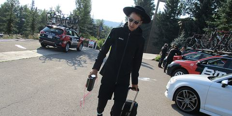 Taylor Phinney and boombox
