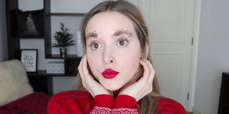 Christmas Tree Eyebrows.New Makeup Trend This Christmas It S The Christmas Tree