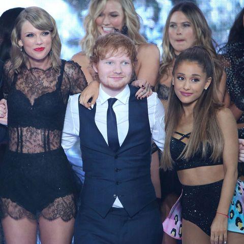 Taylor Swift, Ed Sheeran, and Ariana Grande