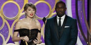 Taylor Swift en Idris Elba bij de Golden Globes 2019