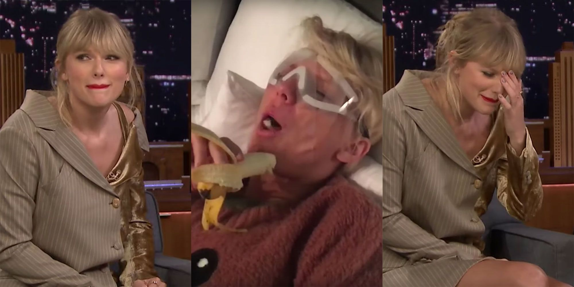 Watch Taylor Swift Lose It When Footage of Her Loopy After Lasik Surgery Is Aired