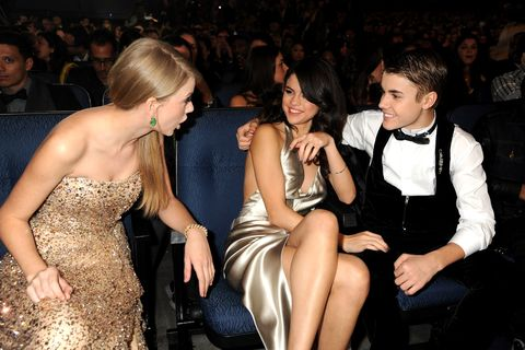 Taylor Swift, Selena Gomez, and Justin Bieber