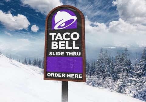 Taco Bell Open Christmas.Taco Bell Is Opening Their First Ever Slide Thru A Drive