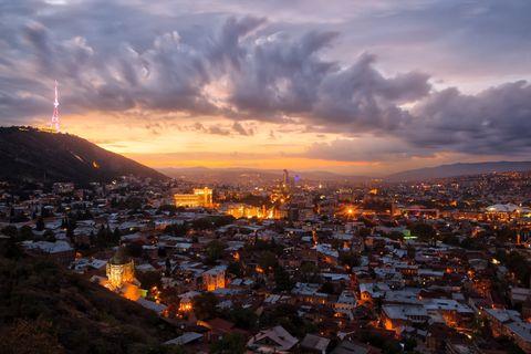 tbilisi georgia by night