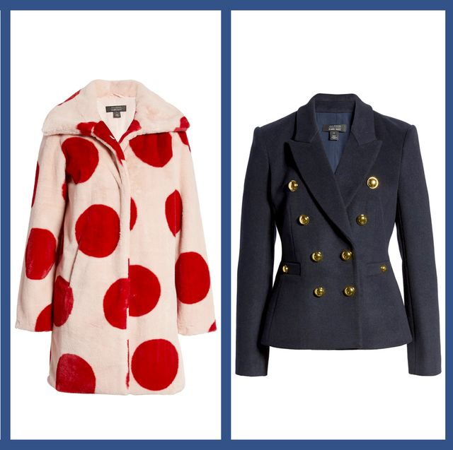 Clothing, Outerwear, Red, Jacket, Coat, Overcoat, Fashion, Pattern, Sleeve, Trench coat,