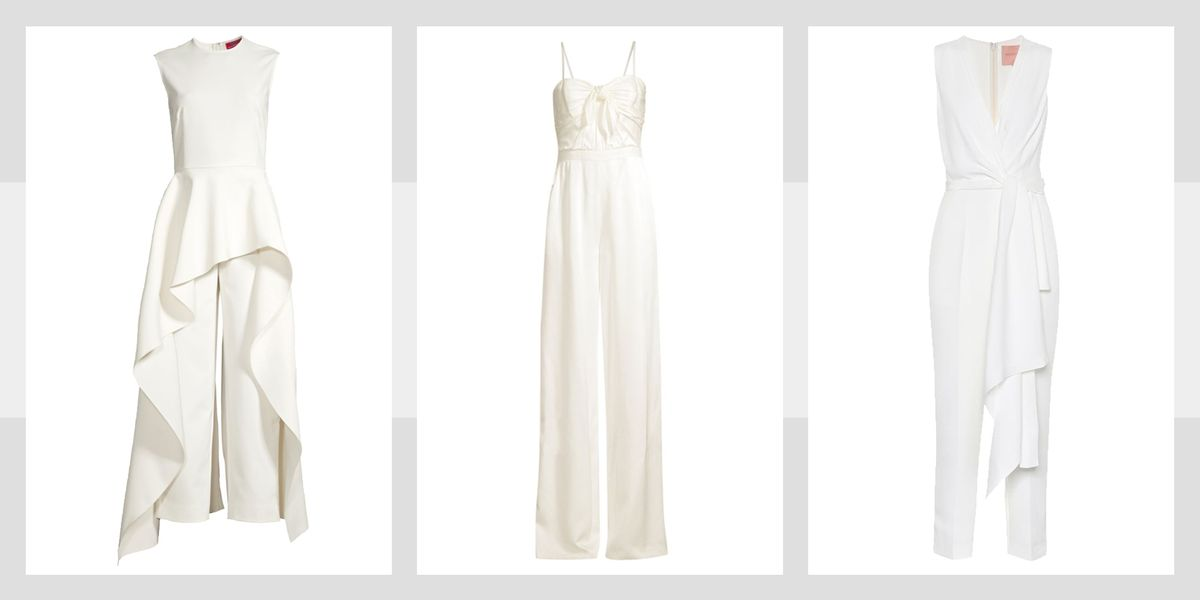 d13d1b38d218 15 Bridal Jumpsuits 2019 - White Pant Suits and White Jumpsuits for Weddings
