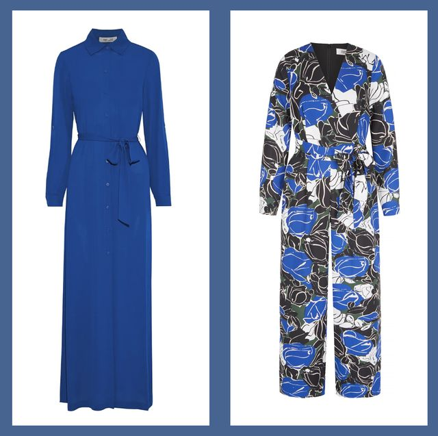 Clothing, Blue, Cobalt blue, Overcoat, Outerwear, Electric blue, Trench coat, Coat, Dress, Fashion,