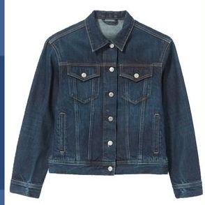 Clothing, Denim, Blue, Outerwear, Orange, Jeans, Sleeve, Clothes hanger, Fashion, Textile,