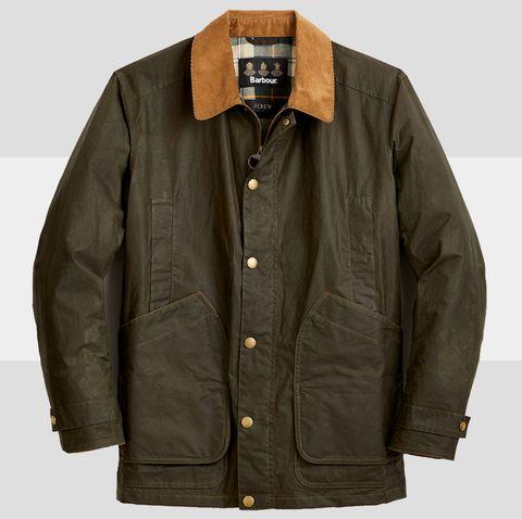 Clothing, Jacket, Outerwear, Sleeve, Collar, Coat, Beige, Pocket, Top,