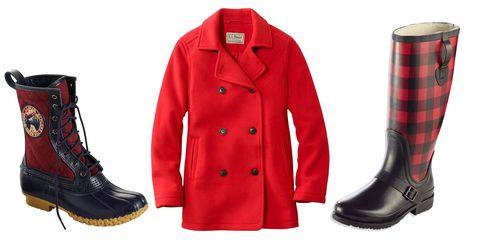Footwear, Red, Clothing, Boot, Riding boot, Plaid, Outerwear, Shoe, Pattern, Tartan,