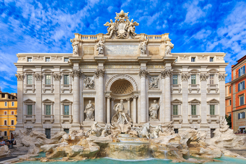 Landmark, Classical architecture, Architecture, Building, Fountain, Ancient roman architecture, Water feature, Palace, Sky, Facade,