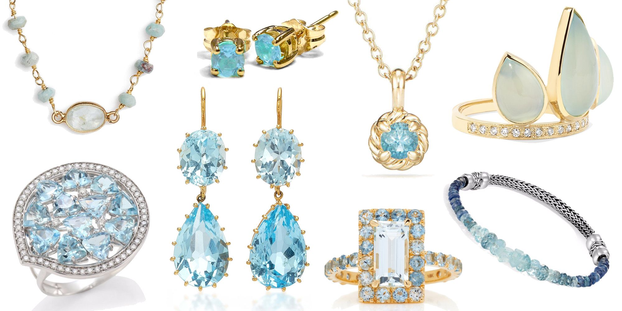 The Best Aquamarine Jewelry for March Birthdays
