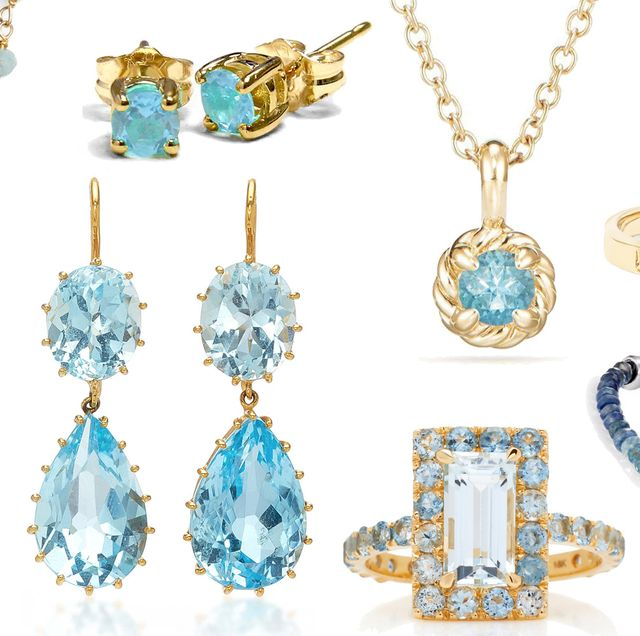 f8b4cef7a The Best Aquamarine Jewelry for March Birthdays - March Birthstone ...