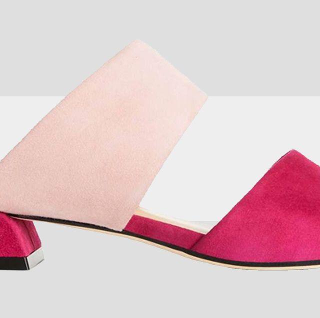 Footwear, Pink, Shoe, Sandal, Magenta, Carmine, Leather,