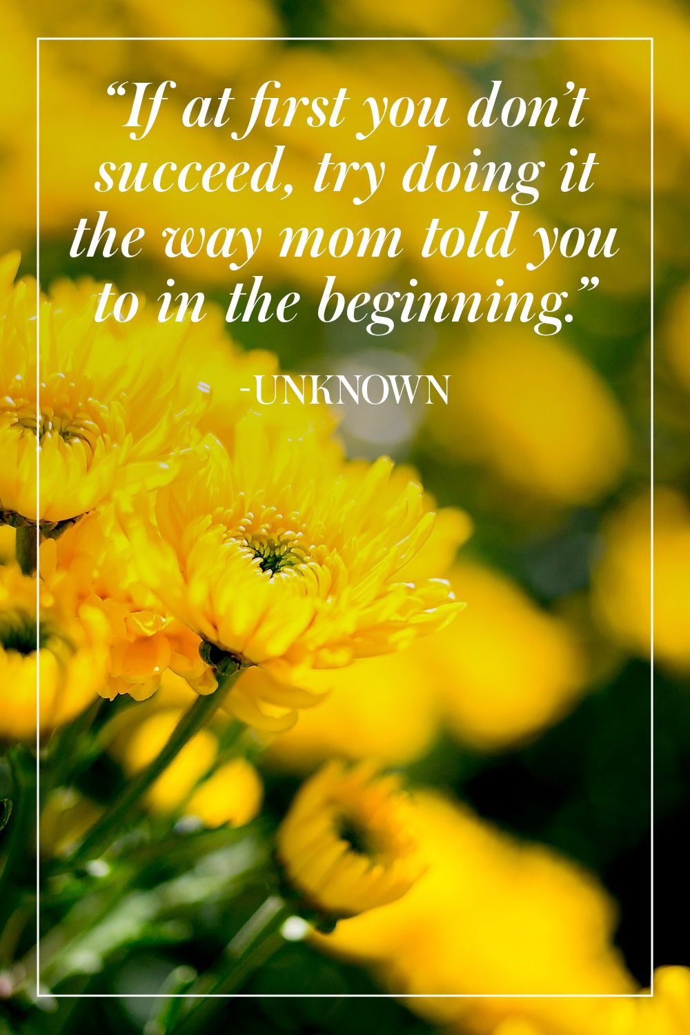 """""""If at first you don't succeed, try doing it the way mom told you to in the beginning."""" - Unknown"""