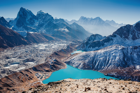 Mountainous landforms, Mountain, Mountain range, Nature, Natural landscape, Glacial lake, Sky, Alps, Moraine, Wilderness,