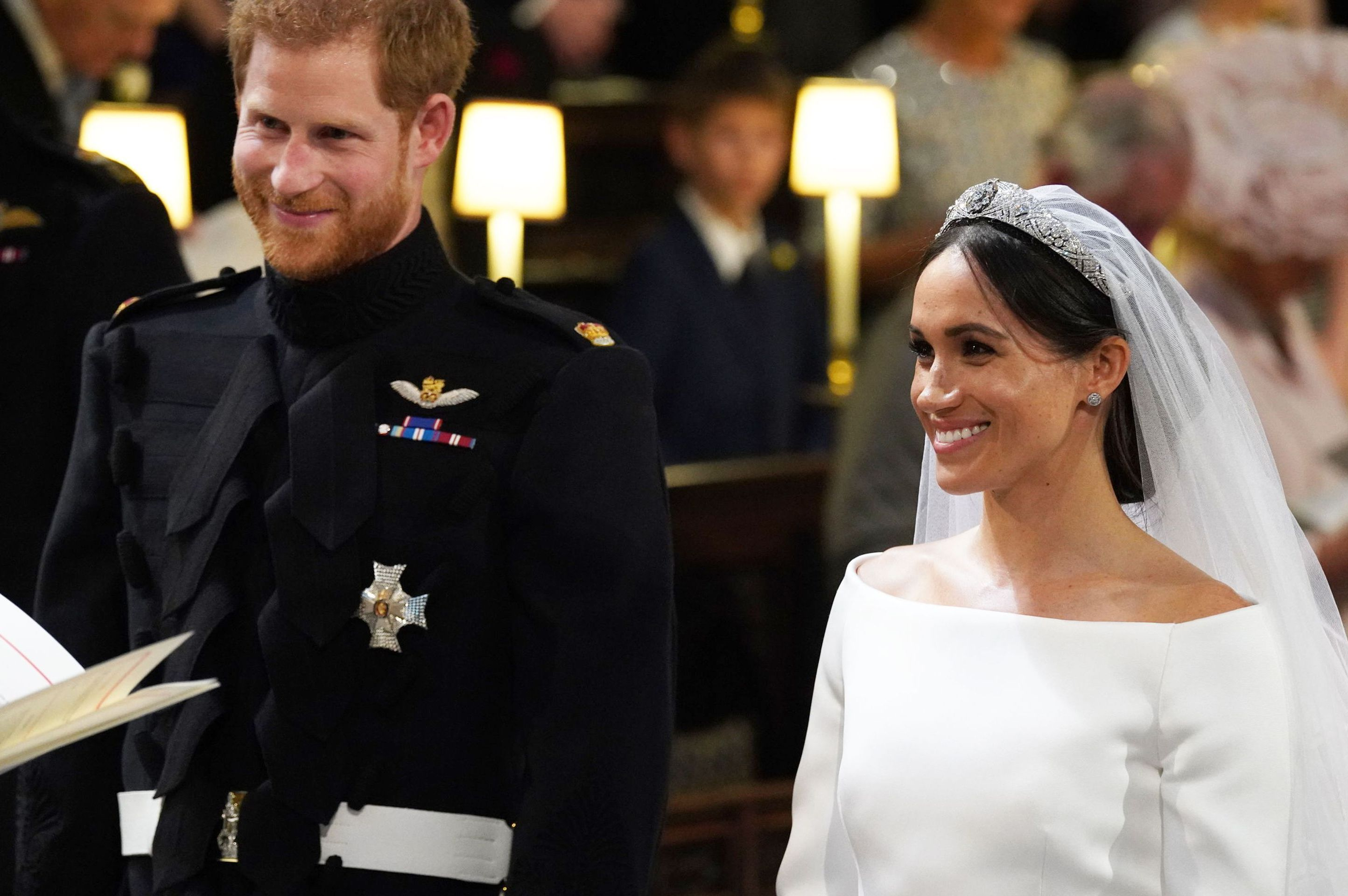 "The happy couple may not have had a lot of private time on their big morning, but as Meghan reached the altar alongside Prince Charles, the groom took a moment to check in with a few quiet words . ""Are you OK? You look amazing,"" he said, according to James Freeston, professional lip reader at 121Captions ."