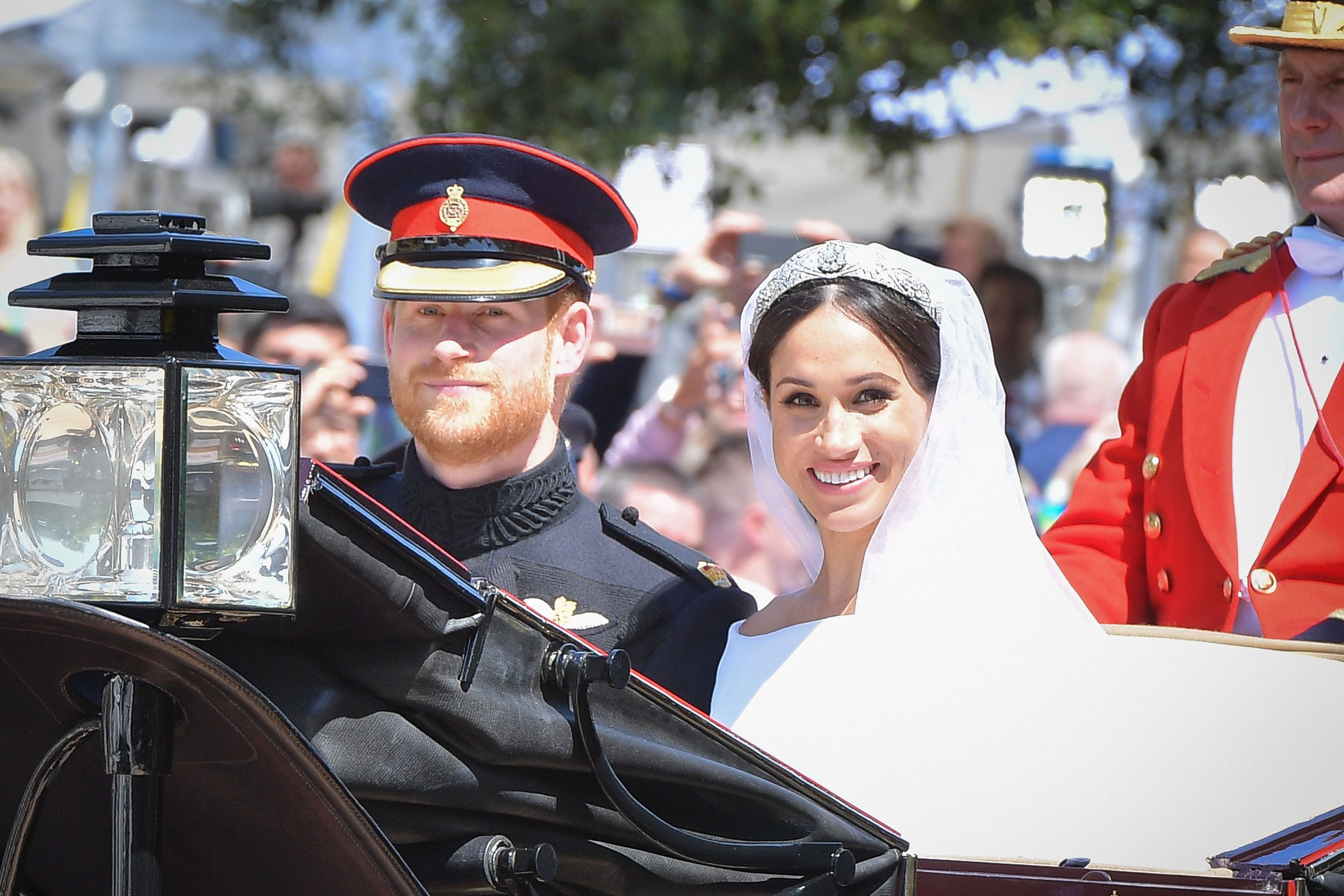 With an event as planned-to-a-T as the royal wedding, you wouldn't think there would be many surprises left for the bride, but Meghan got one big one courtesy of a surprise guest . As the couple rose through London in their carriage after the ceremony, Meghan caught sight of a familiar face in the crowd—her former drama teacher Gigi Perreau who was a guest and contributor to ITV.