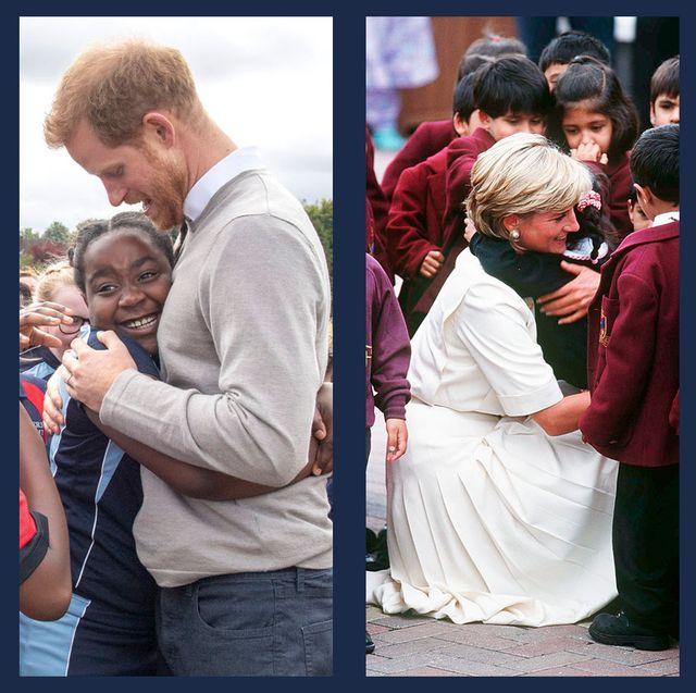 royal family hugging fans