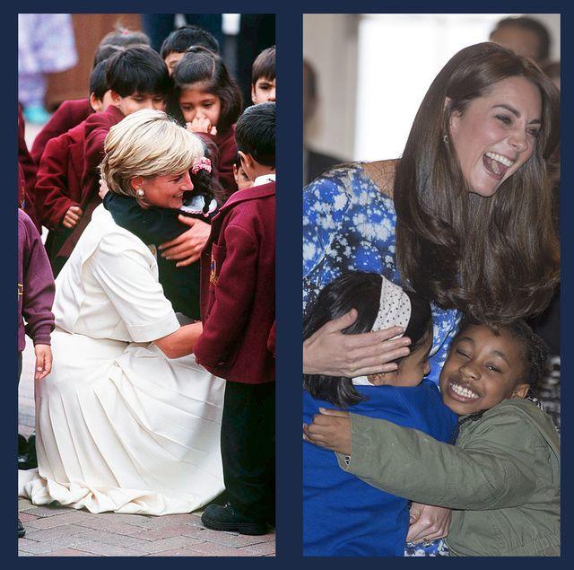 ロイヤルファミリー 英国王室 ハグ キャサリン妃 ダイアナ妃 ウィリアム王子 ヘンリー王子 メーガン妃 ファン