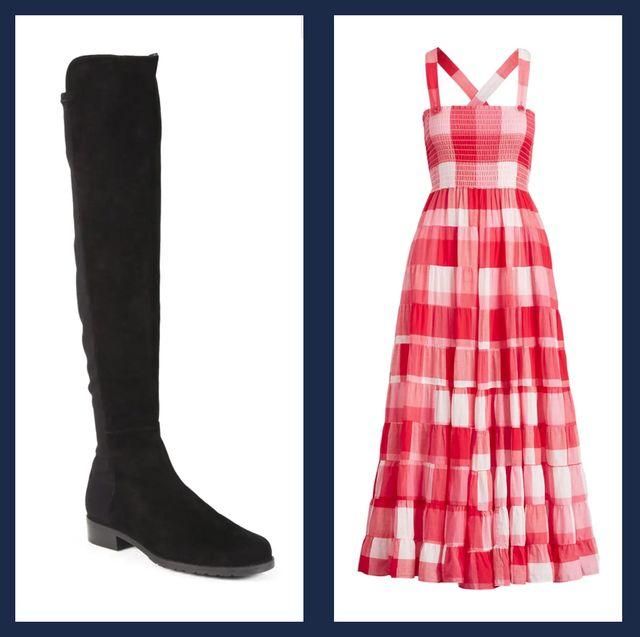 Footwear, Tartan, Clothing, Boot, Plaid, Dress, Pattern, Fashion, Shoe, Riding boot,
