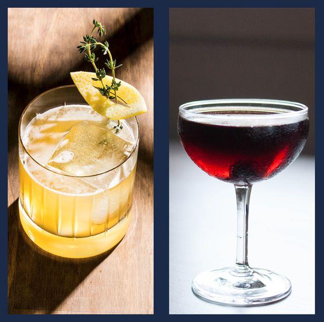 Classic cocktail, Drink, Champagne cocktail, Cocktail garnish, Alcoholic beverage, Wine cocktail, Cocktail, Distilled beverage, Tinto de verano, Liqueur,